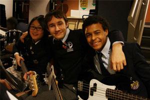 Clase de música en Bodwell High School Vancouver